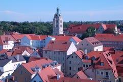 Cityscape van Regensburg stock afbeeldingen