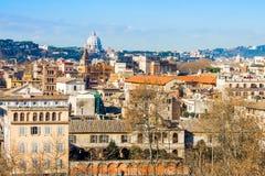 Cityscape van Rome Royalty-vrije Stock Afbeeldingen