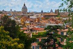 Cityscape van Rome Stock Afbeeldingen