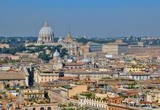 Cityscape van Rome en van Vatikaan Royalty-vrije Stock Afbeeldingen