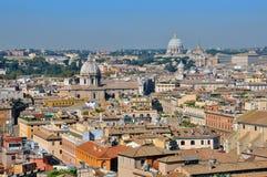 Cityscape van Rome en van Vatikaan Royalty-vrije Stock Afbeelding