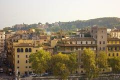 Cityscape van Rome, Italië op een zonnige dag Stock Afbeelding