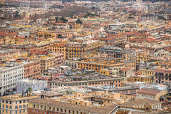 Cityscape van Rome - labyrint van gebouwen Stock Foto