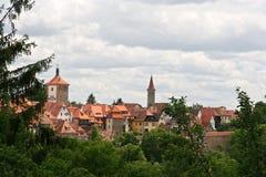 Cityscape van Rothenburg Stock Afbeeldingen