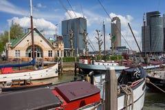 Cityscape van Rotterdam Stock Afbeeldingen