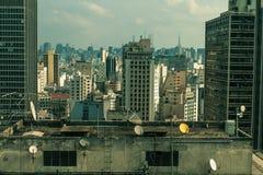 Cityscape van Sãopaulo, van de mening van de klassieke Martinelli-Toren Stock Fotografie