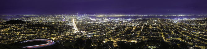 Cityscape van San Francisco en Oakland royalty-vrije stock foto