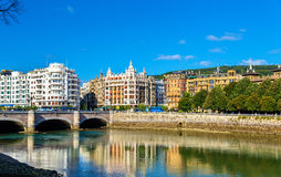 Cityscape van San Sebastian of Donostia - Spanje Stock Foto's