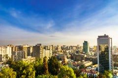 Cityscape van Santiago DE Chili stock foto's