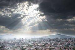 Cityscape van Sarajevo Stock Afbeeldingen