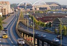 Cityscape van Seattle Stock Foto's