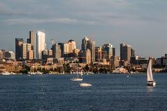 Cityscape van Seattle Meerunie Stock Fotografie