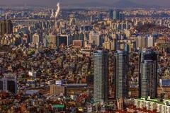 Cityscape van Seoel Stock Afbeeldingen