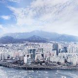 Cityscape van Seoel, horizon, de hoge gebouwen van het stijgingsbureau in Seoel ci Stock Afbeeldingen