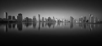 Cityscape van Sharjah, de V.A.E, GCC royalty-vrije stock foto