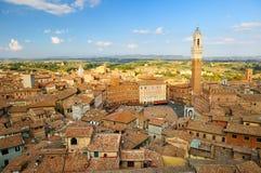 Cityscape van Siena Stock Afbeeldingen