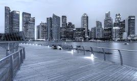 Cityscape van Singapore Stock Afbeeldingen