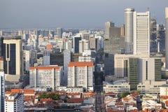 Cityscape van Singapore met Chinatown Stock Afbeelding