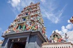 Cityscape van Singapore tempel Stock Foto's