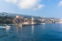 Cityscape van Sorrento royalty-vrije stock fotografie