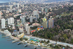 Cityscape van Sotchi Royalty-vrije Stock Foto