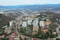 Cityscape van Sotchi Stock Fotografie