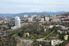Cityscape van Sotchi Royalty-vrije Stock Foto's