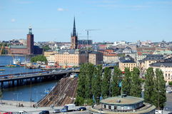 Cityscape van Stockholm Royalty-vrije Stock Foto