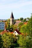 Cityscape van Stuttgart Stock Foto