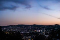 Cityscape van Stuttgart Landschaps Hoofdstad Baden Wuerttemberg Da stock afbeeldingen
