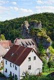Cityscape van TÃ ¼ chersfeld in franconia Zwitserland Stock Foto
