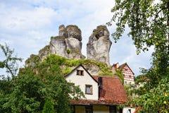 Cityscape van TÃ ¼ chersfeld in franconia Zwitserland Royalty-vrije Stock Foto's