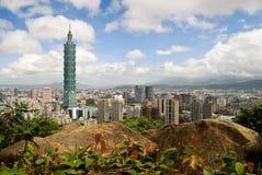 Cityscape van Taipeh Stock Afbeelding
