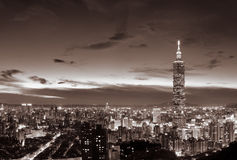 Cityscape van Taipeh Stock Afbeeldingen