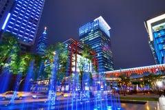 Cityscape van Taipeh Stock Foto's