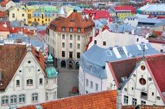 Cityscape van Tallinn royalty-vrije stock afbeelding