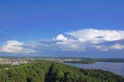 Cityscape van Tampere stock afbeeldingen