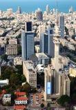 Cityscape van Tel Aviv Stock Foto's