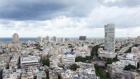 Cityscape van Tel Aviv, Israël stock videobeelden