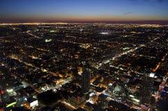 Cityscape van Toronto bij schemer Royalty-vrije Stock Foto's