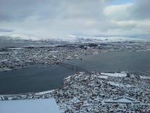 Cityscape van Tromso stock afbeeldingen