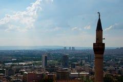 Cityscape van Turks hoofdankara stock afbeeldingen