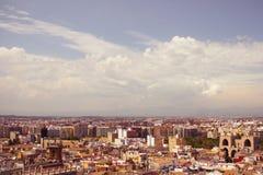 Cityscape van Valencia royalty-vrije stock afbeelding