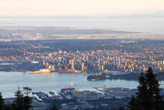 Cityscape van Vancouver Royalty-vrije Stock Foto's