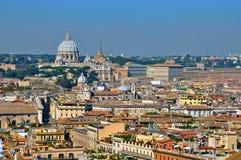 Cityscape van Vatikaan en van Rome Royalty-vrije Stock Foto's