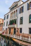 Cityscape van Venetië, waterkanalen en traditionele gebouwen Italië, Europa Stock Foto's