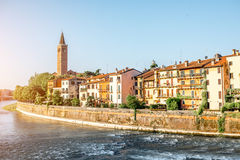 Cityscape van Verona mening royalty-vrije stock fotografie