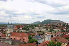 Cityscape van vestingseger Hongarije Royalty-vrije Stock Fotografie