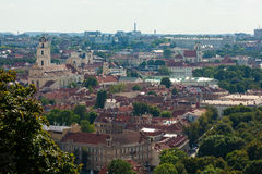 Cityscape van Vilnius, Litouwen Stock Fotografie