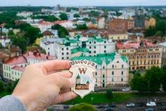Cityscape van Vyborg Royalty-vrije Stock Foto